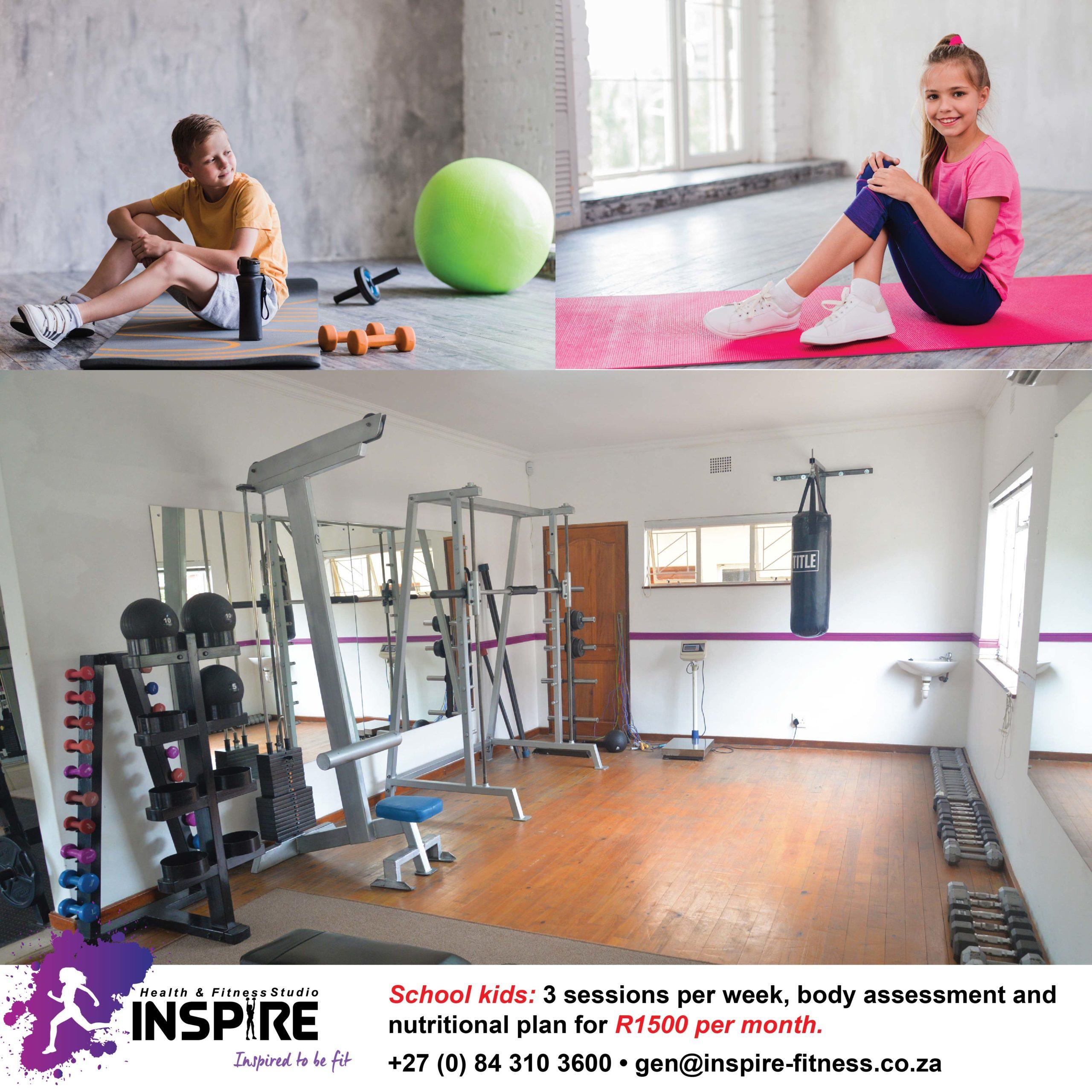 School Kids Special Inspire Fitness www.inspire-fitness.co.za
