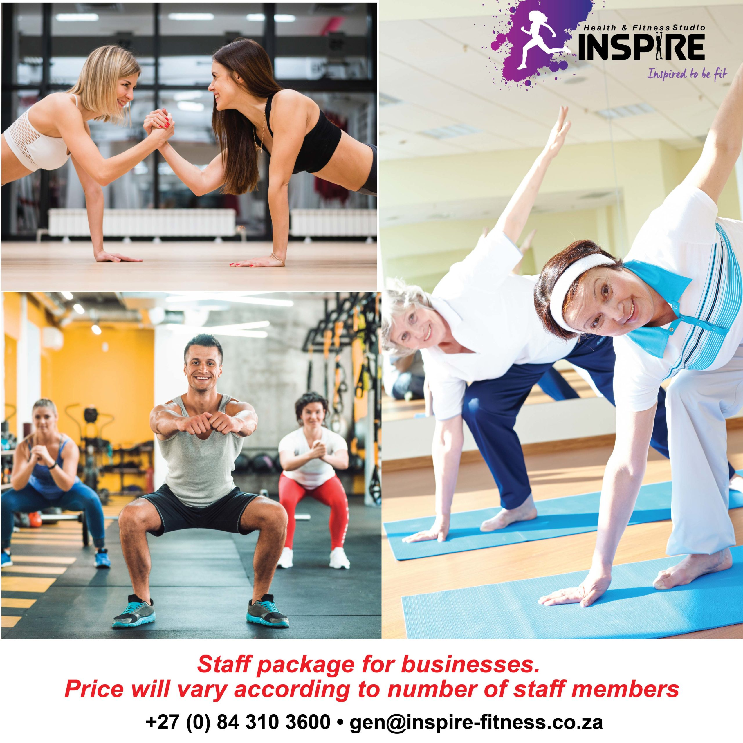 Staff Specials Inspire Fitness www.inspire-fitness.co.za
